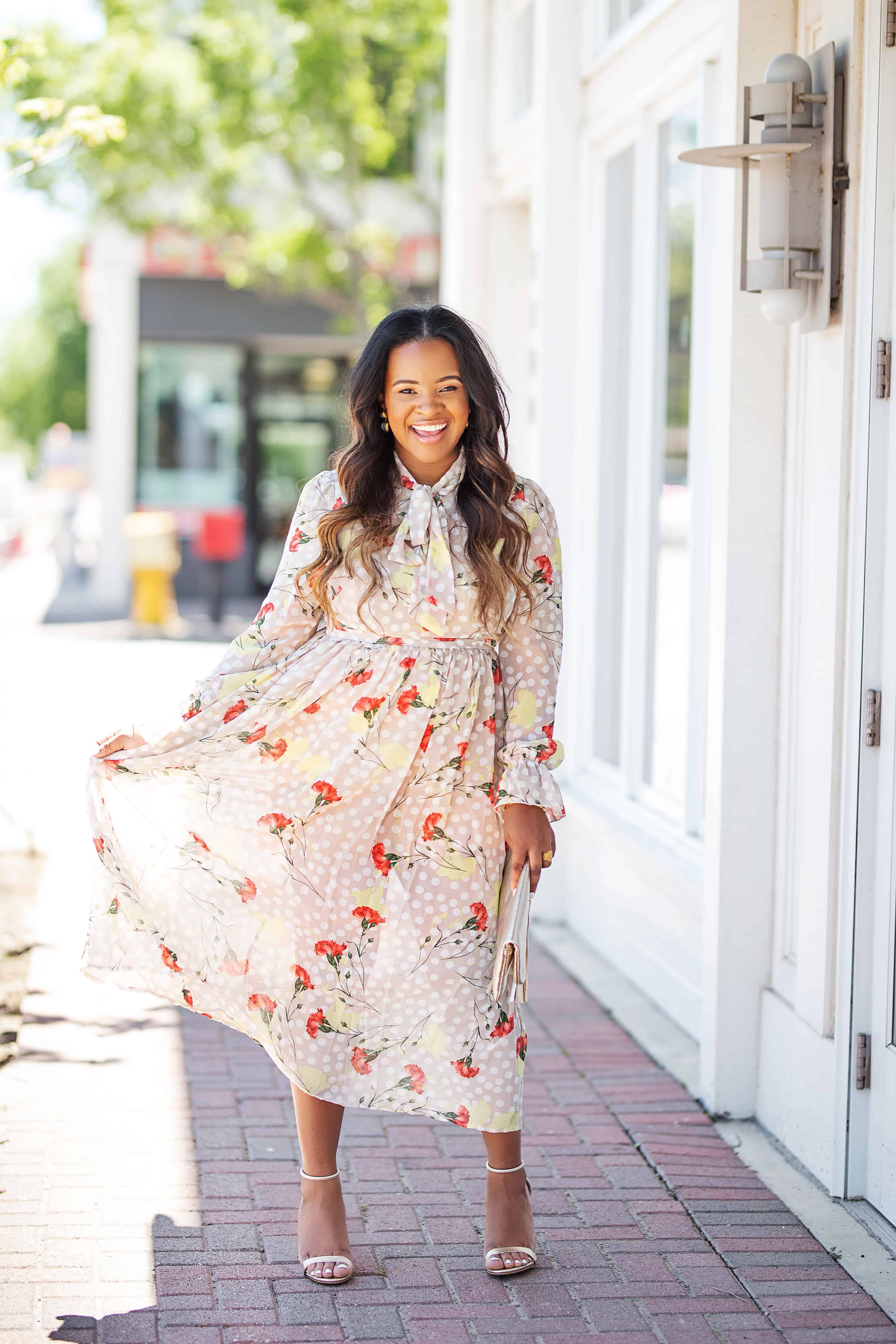 20 Cute Wedding Guest Dresses Under $50 featured by top US fashion blog, Glamorous Versatility