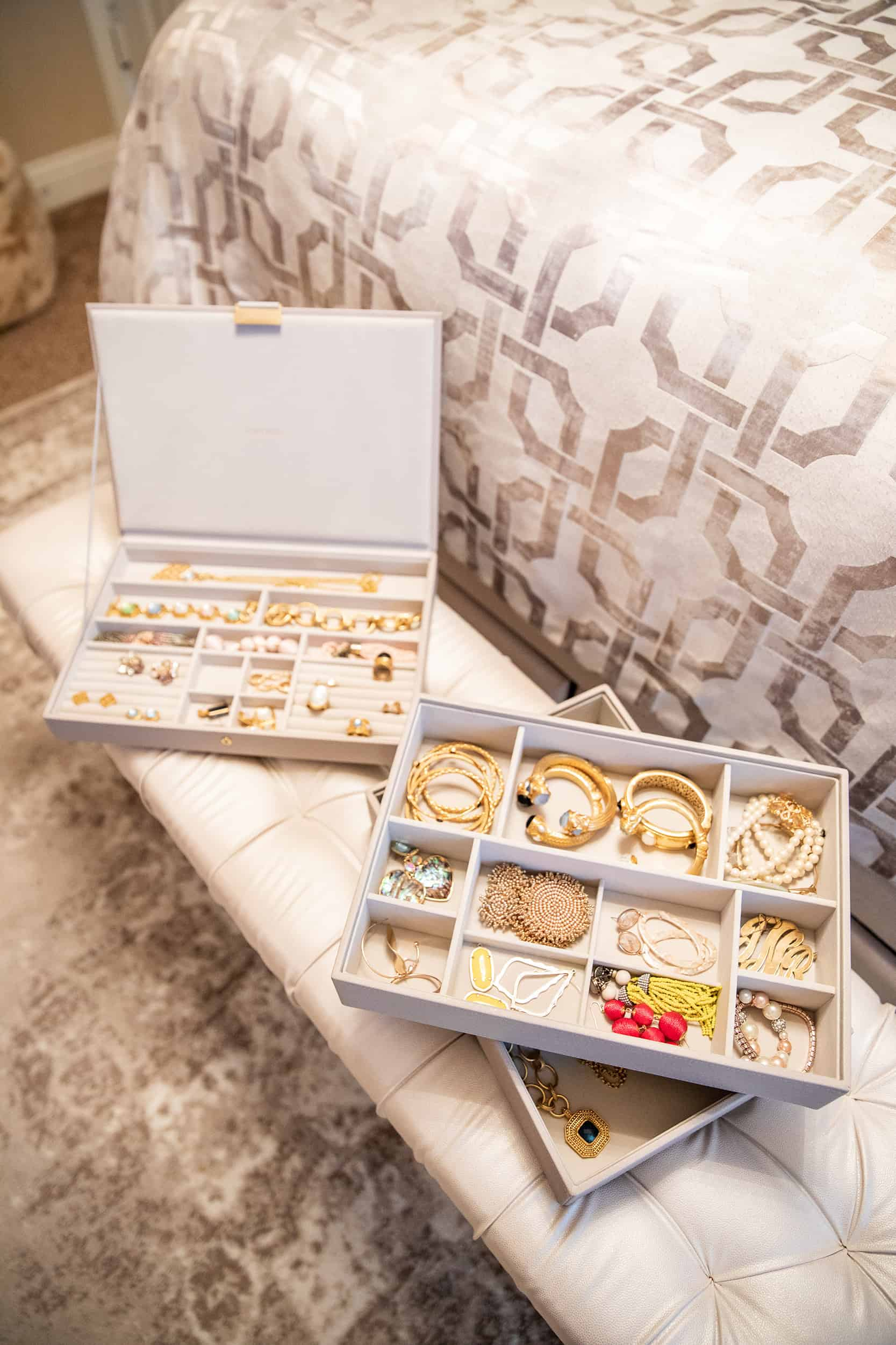 Top Home Organization Projects of 2019 by popular Dallas life and style blog, Glamorous Versatility: image of jewelry storage bins.