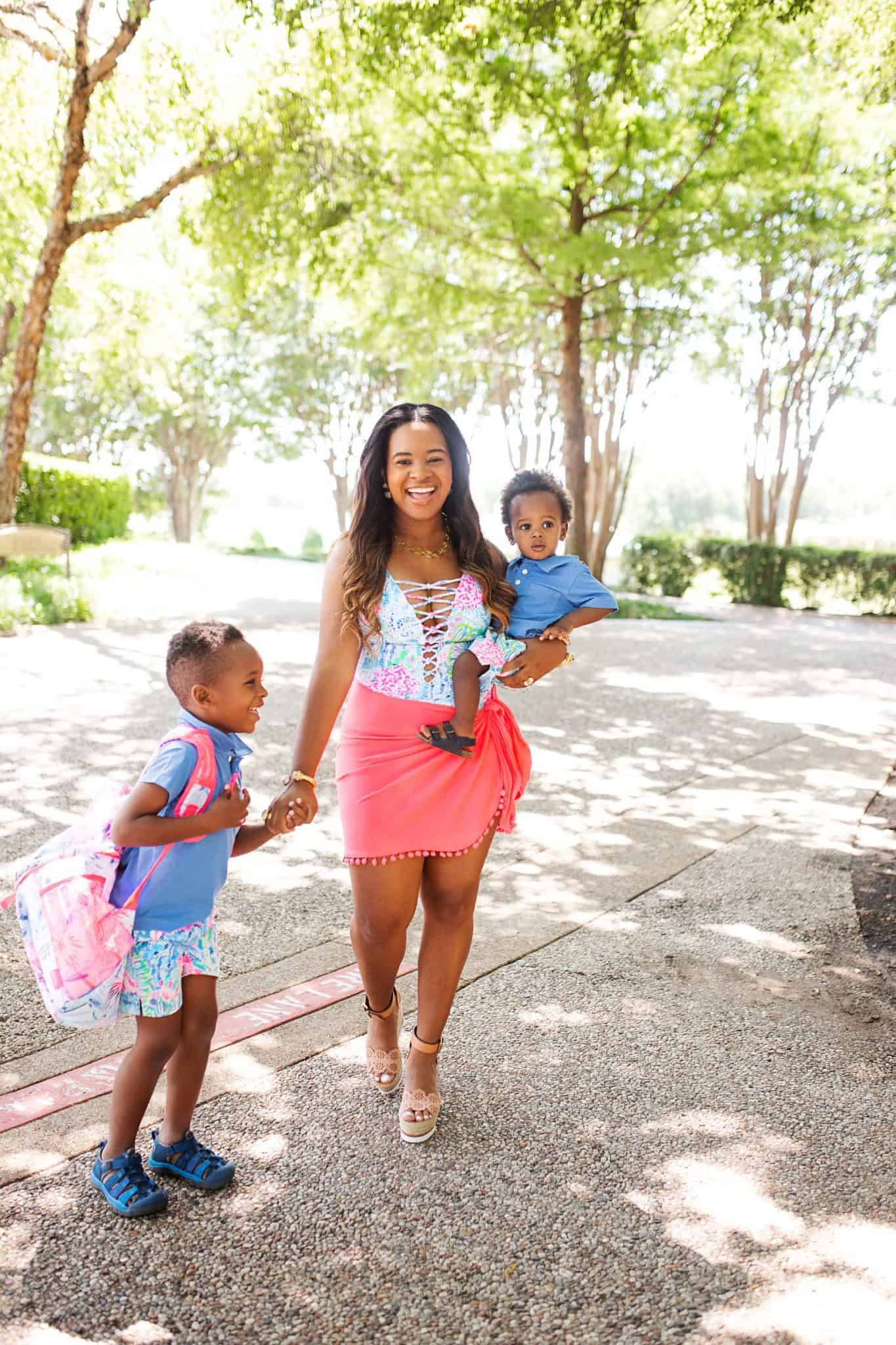 Lilly Pulitzer Swimwear for the Family featured by top US life and style blog, Glamorous Versatility