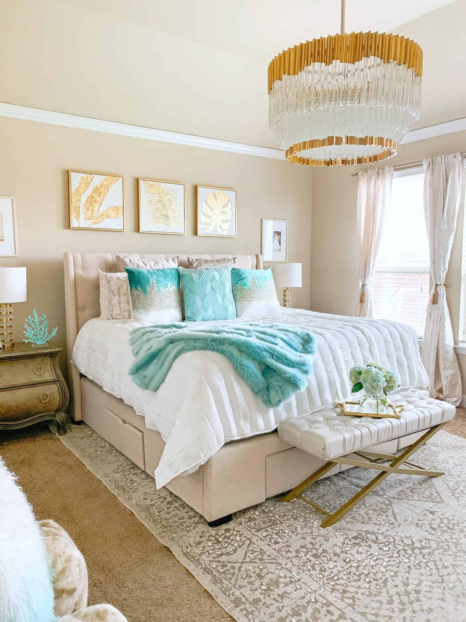 Coastal Glam Bedroom Ideas | Home Decor | Glamorous