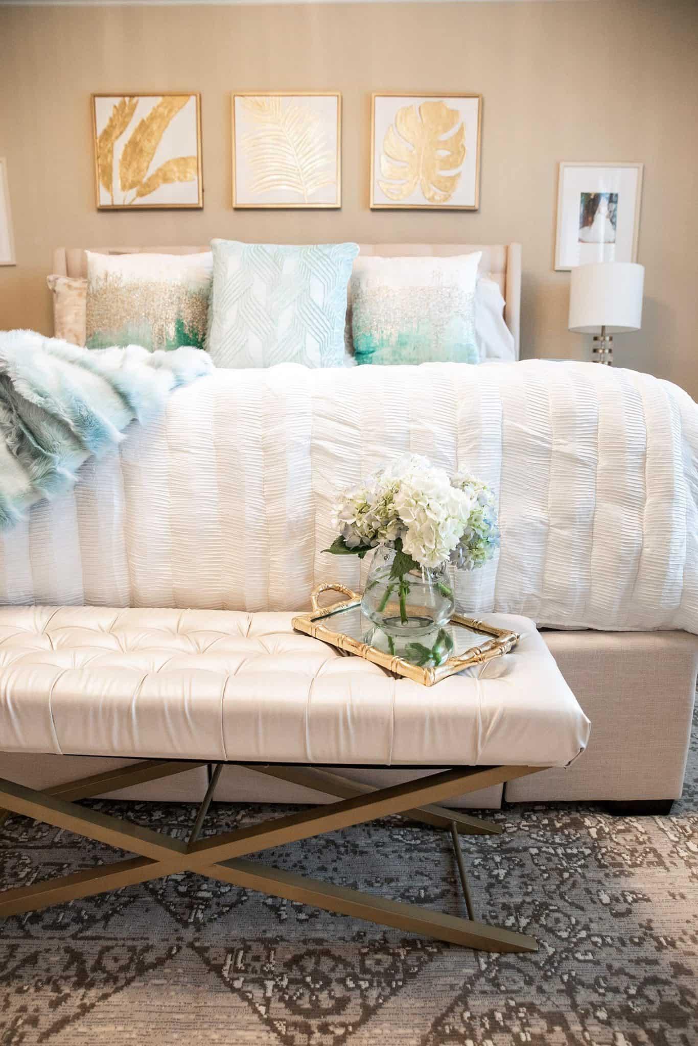 Coastal Glam Bedroom Ideas | Home Decor | Glamorous Versatility