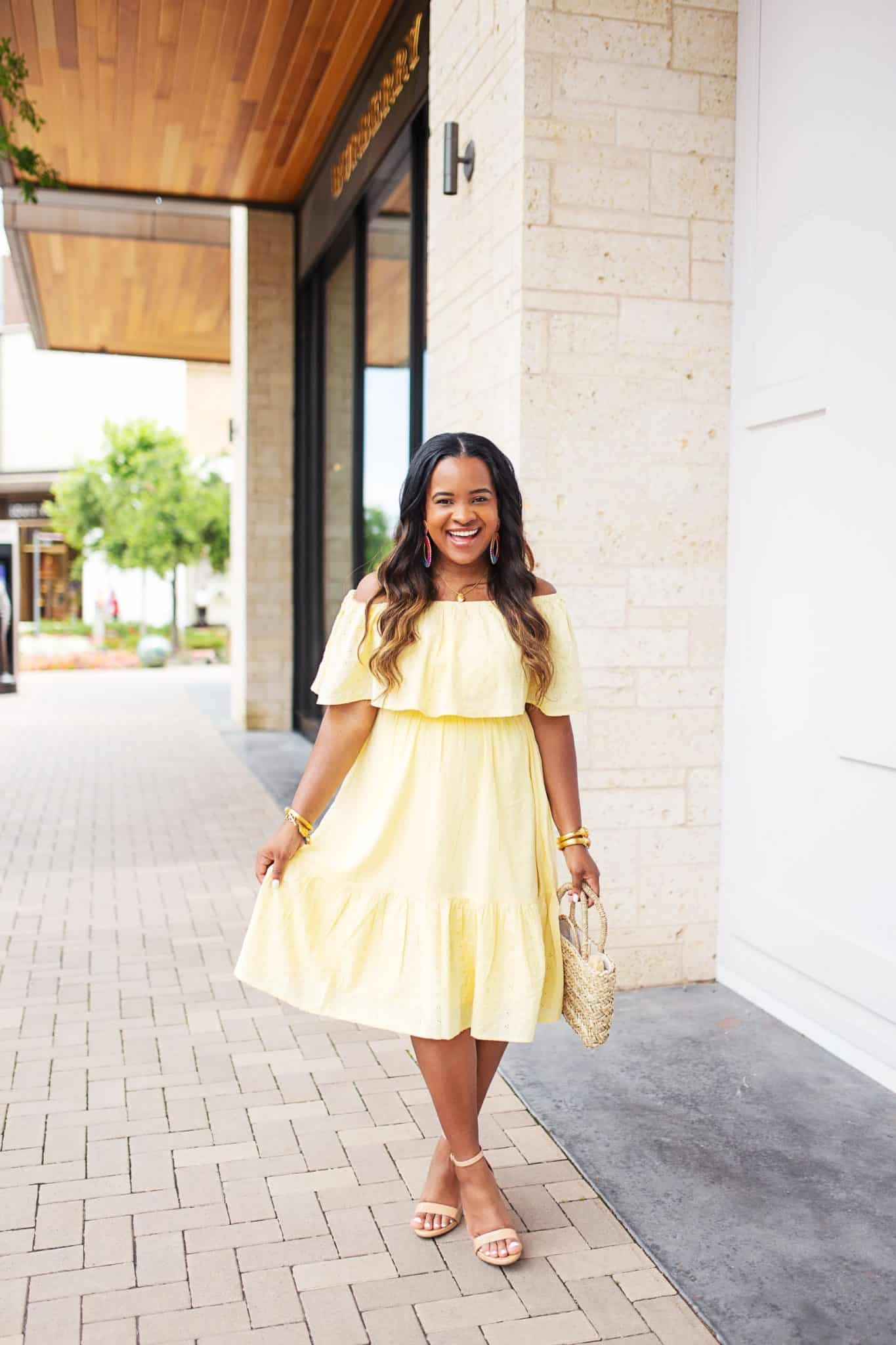 8 Ways to Cut Back on Spending Keep Money in Your Bank Account featured by top US lifestyle blog, Glamorous Versatility: image of a woman featuring a Walmart fashion dress