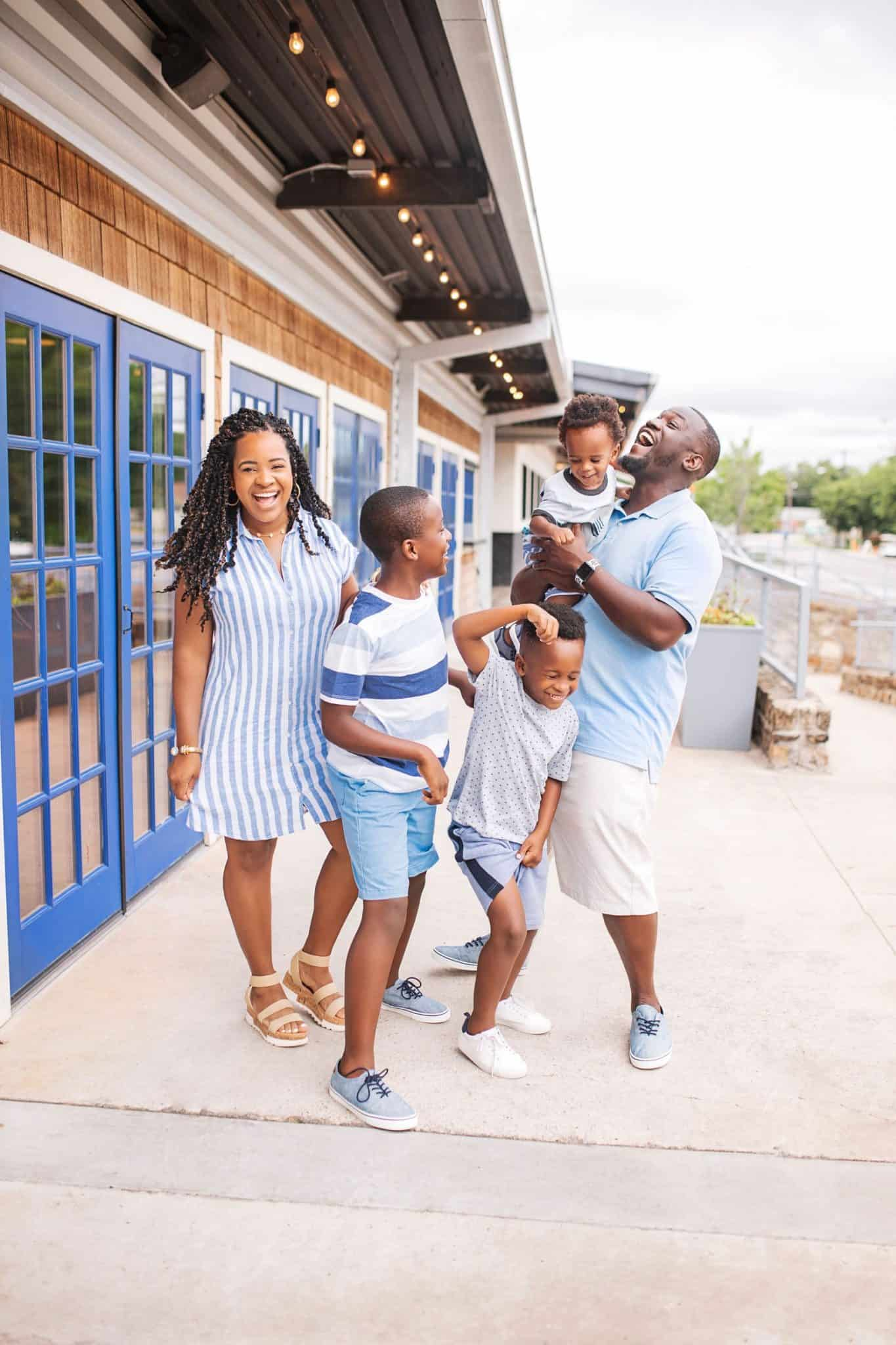 Old Navy Back to School Favorites featured by top US fashion blog, Glamorous Versatility: image of a family wearing Old Navy clothes