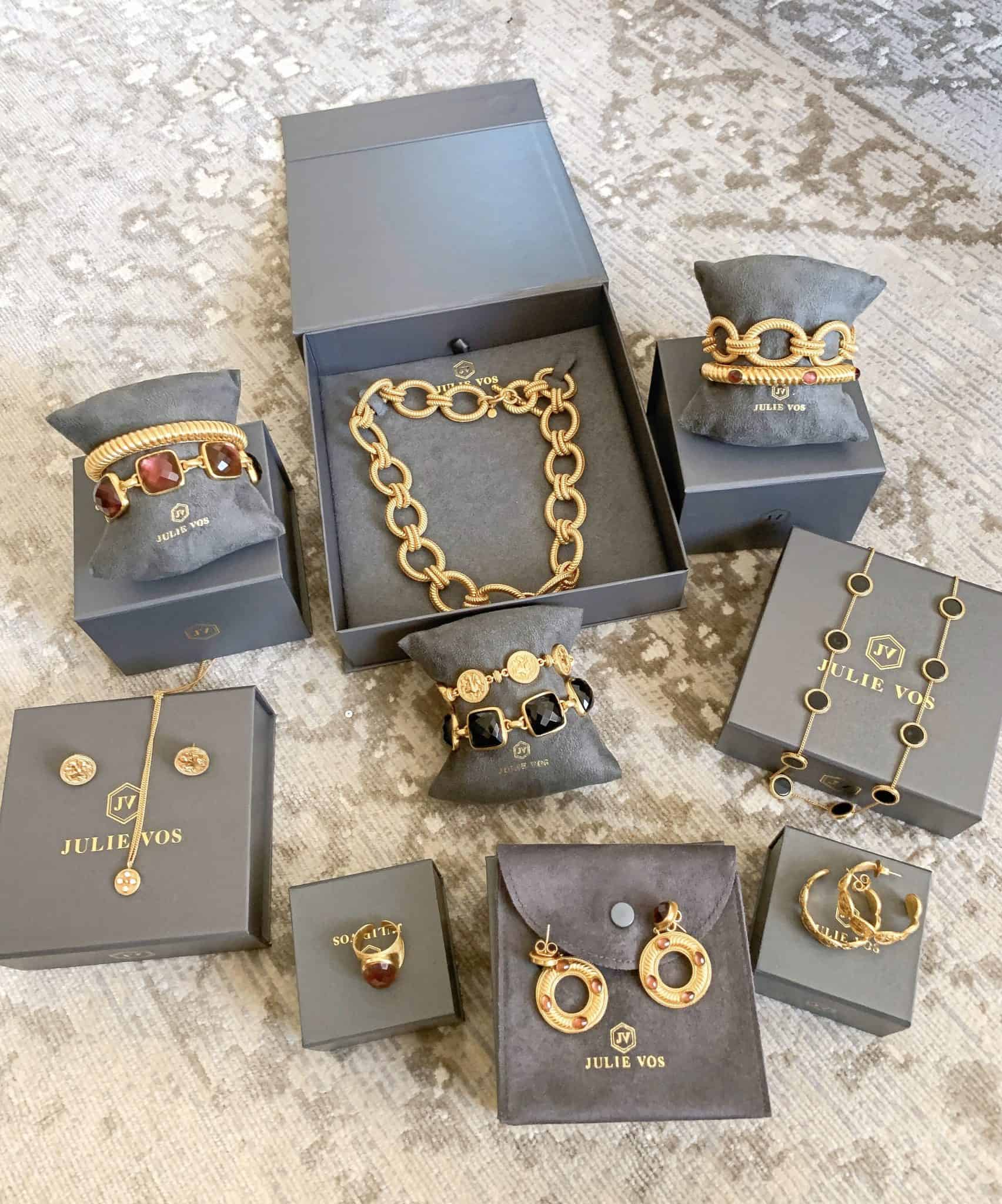 Julie Vos Jewelry Fall 2019 Collection by popular Dallas fashion blog, Glamorous Versatility: image of various Julie Vos jewelry pieces.