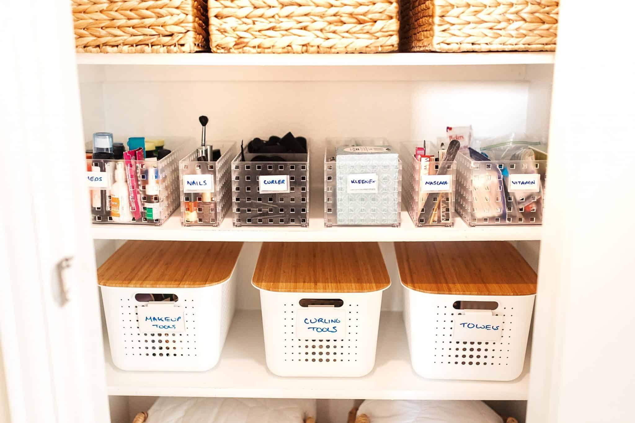Bathroom Closet Organization Ideas, How To Organize Bathroom Closet
