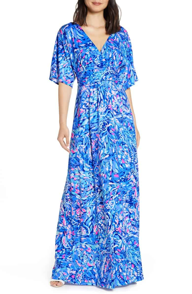 Lilly Pulitzer After Party Sale favorites featured by top US fashion blog, Glamorous Versatility: image of Parigi maxi dress