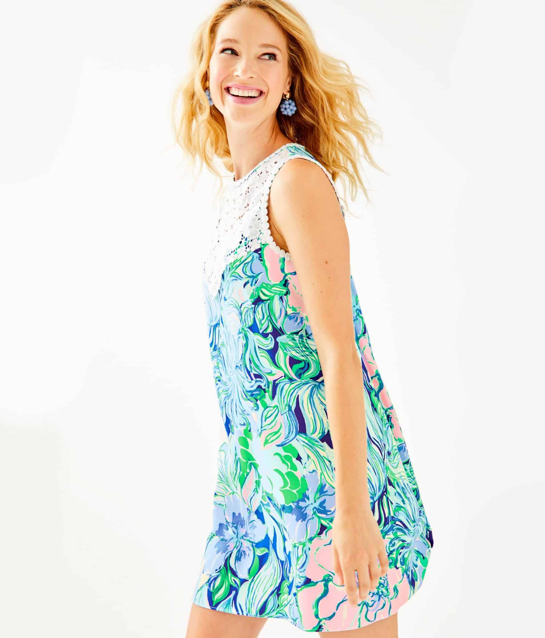 Lilly Pulitzer After Party Sale favorites featured by top US fashion blog, Glamorous Versatility: image of Lilly Pulitzer Nala swing dress