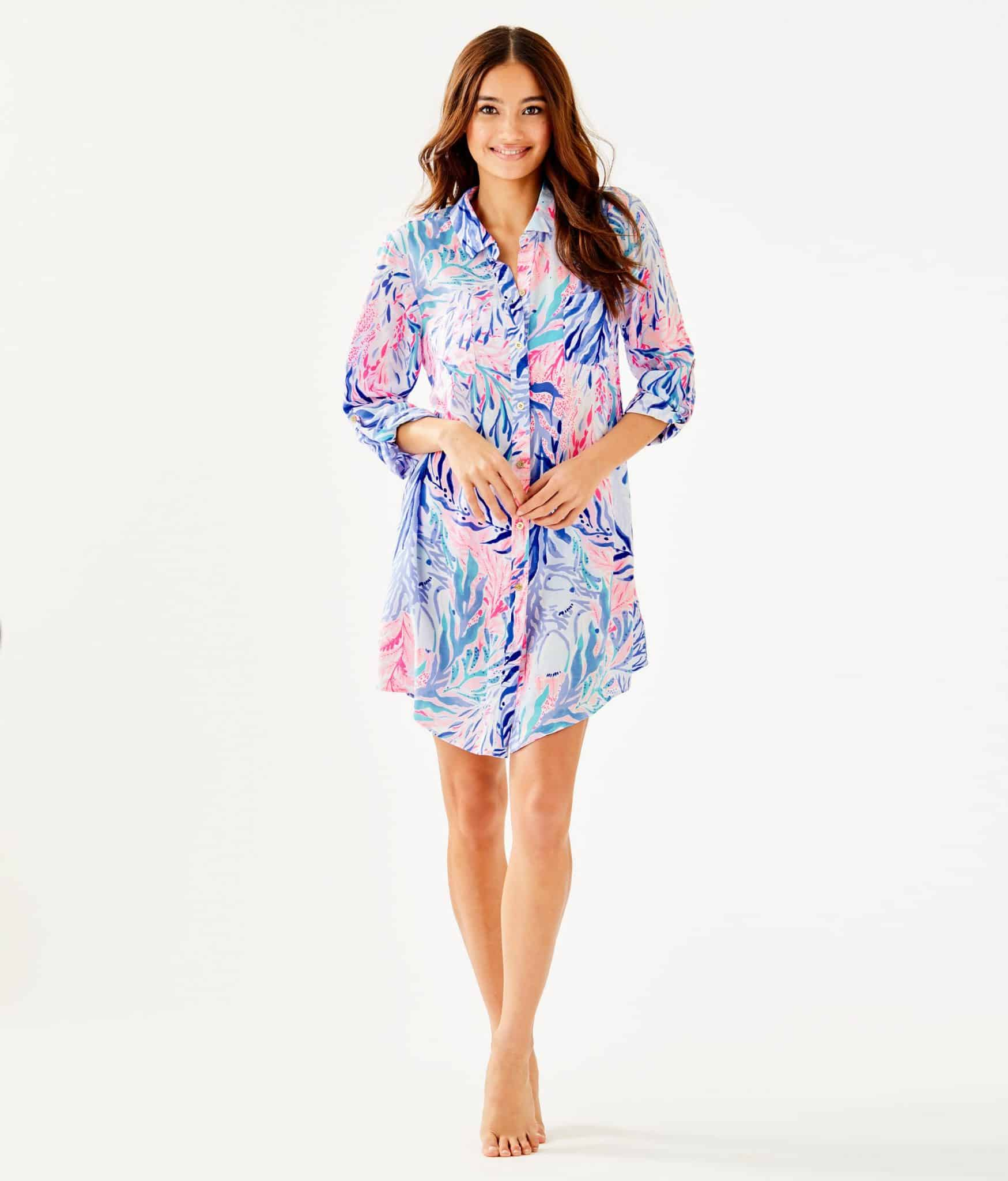 Lilly Pulitzer After Party Sale favorites featured by top US fashion blog, Glamorous Versatility: image of Natalie shirt dress