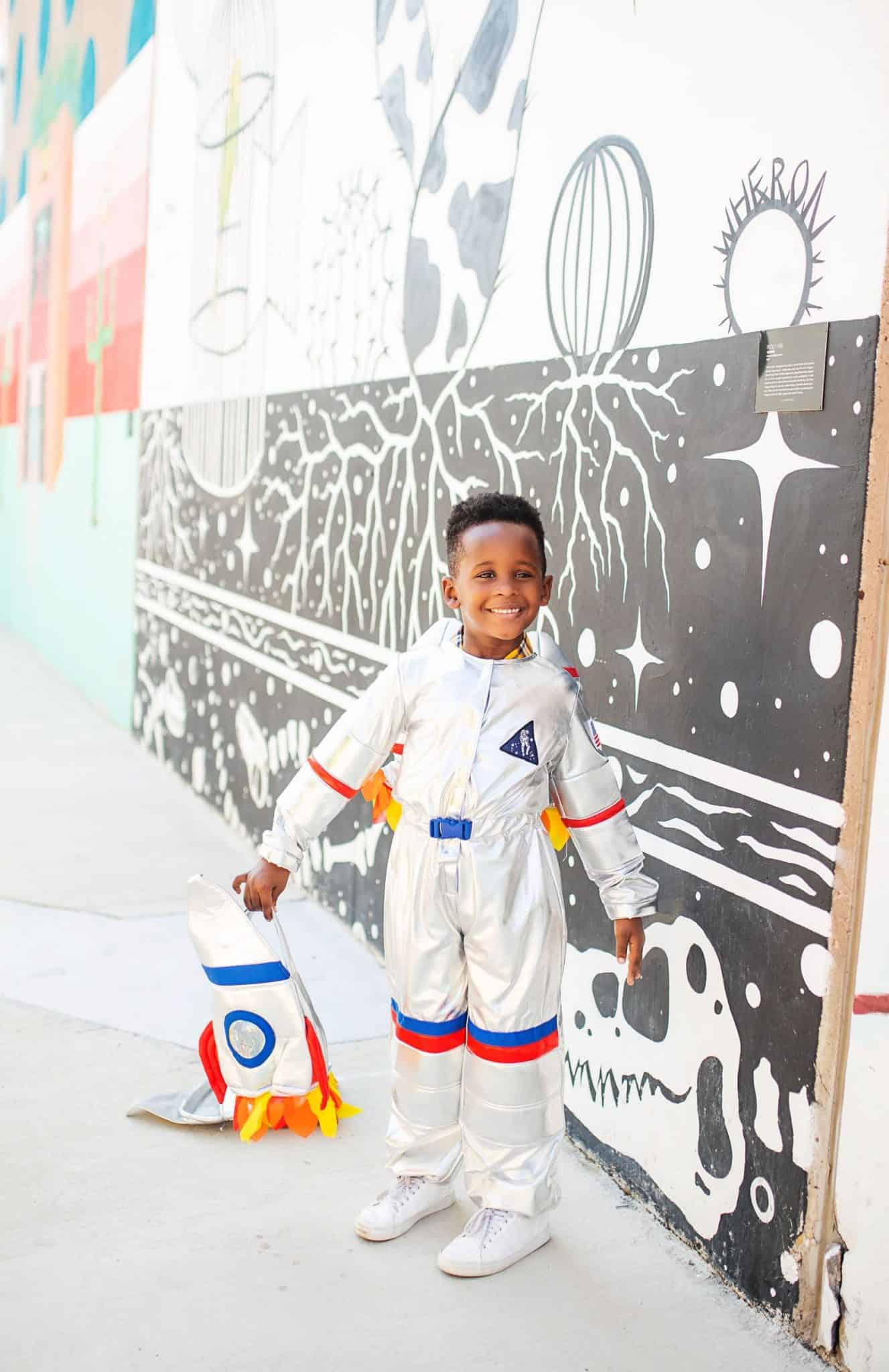 Cute Halloween Costumes for Boys featured by top US life and style blog, Glamorous Versatility: astronaut and rocket