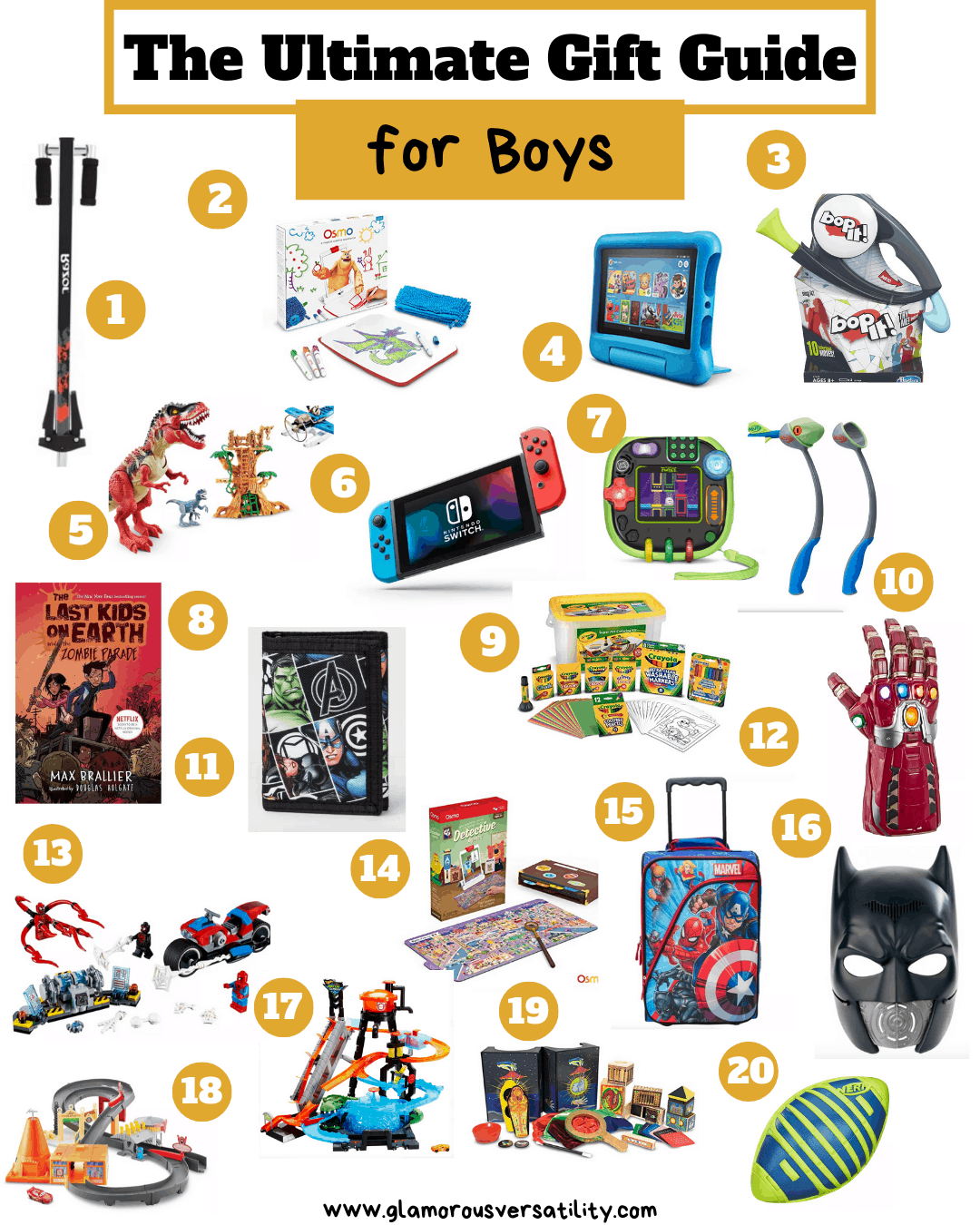 Best Gifts For Boys Holiday Gift Guides Glamorous Versatility
