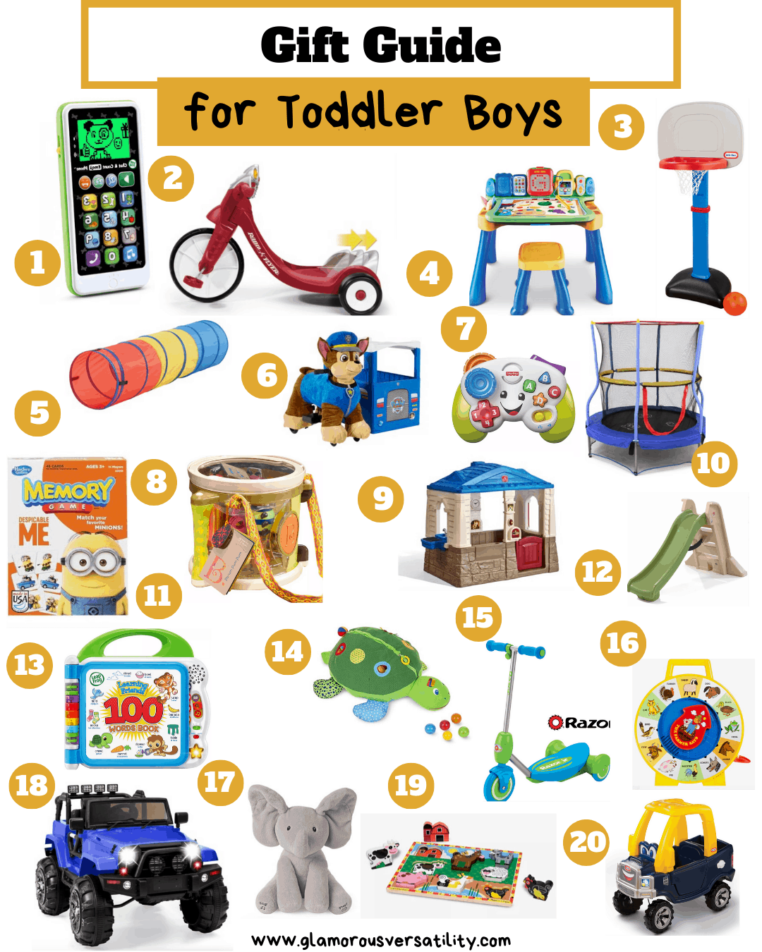 Best Gift for Boys: Toddlers, Children, Tweens featured by top US life and style blog, Glamorous Versatility: gifts for toddler boys