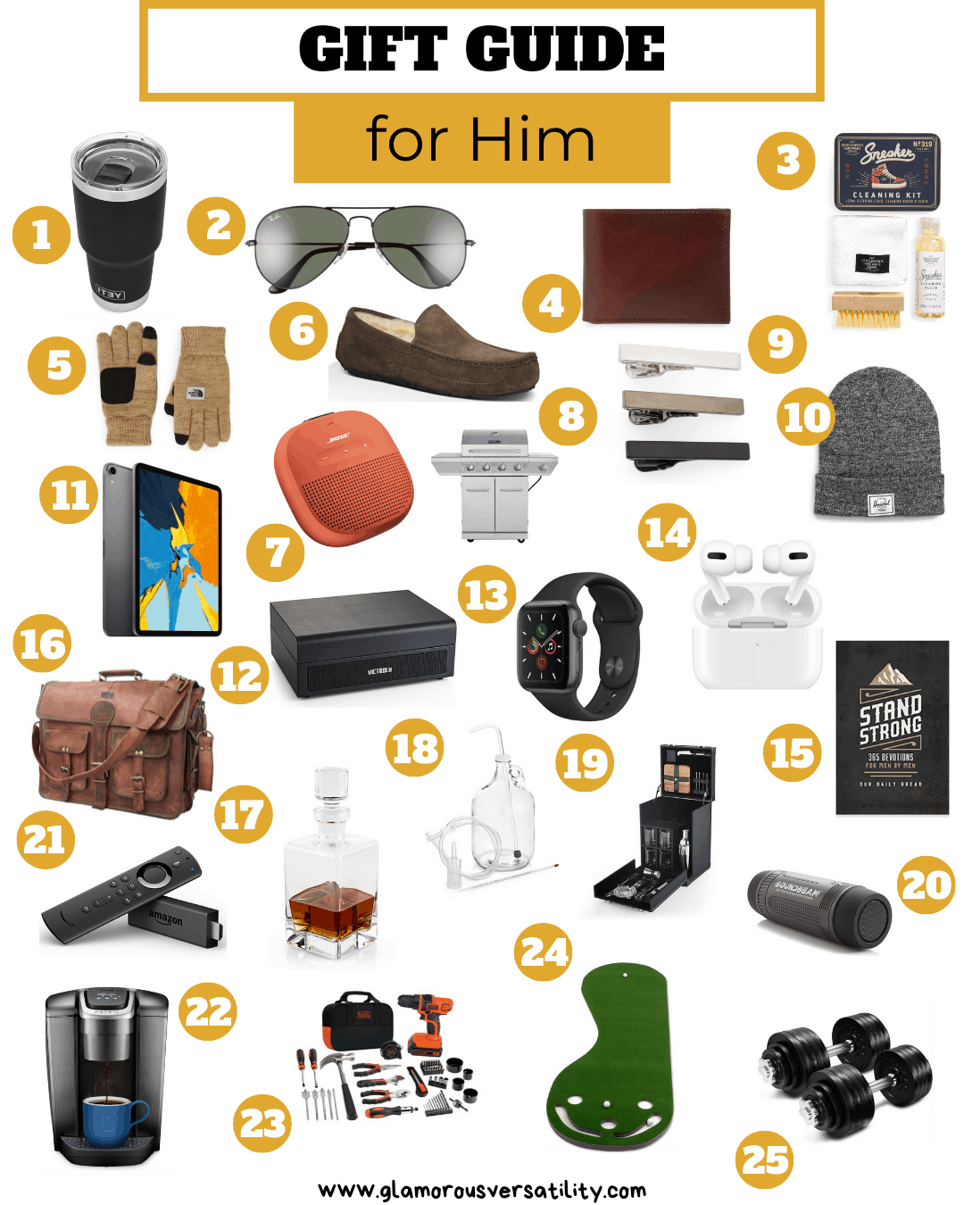 Holiday Gift Guide Top 45 Unique Gifts For Him Glamorous