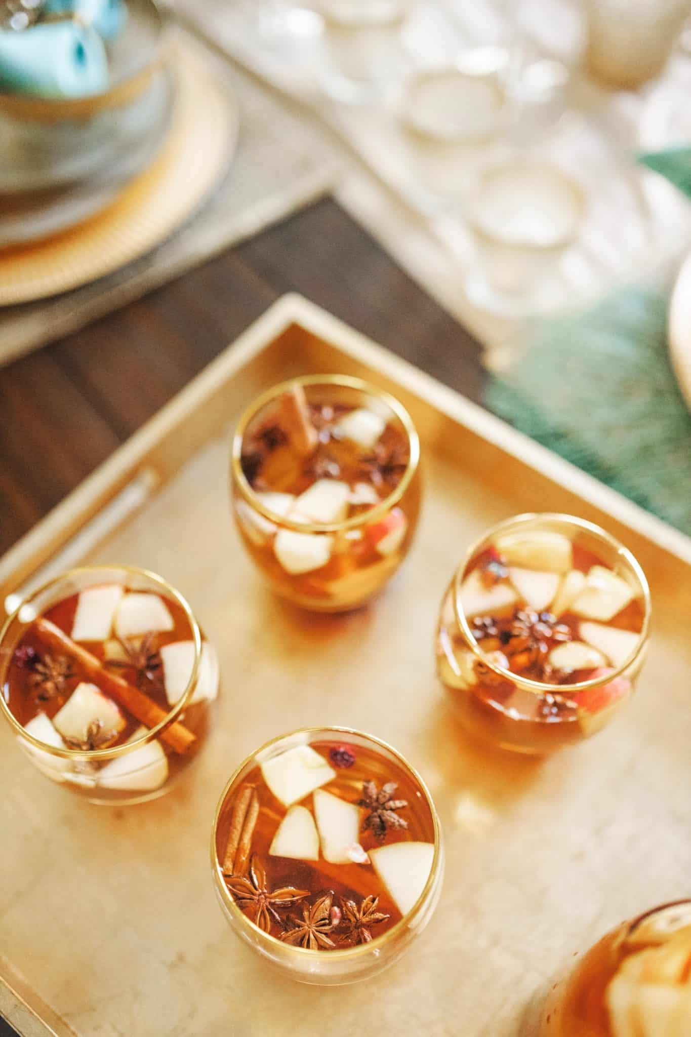 Apple Cider Sangria Recipe featured by top US lifestyle blog, Glamorous Versatility