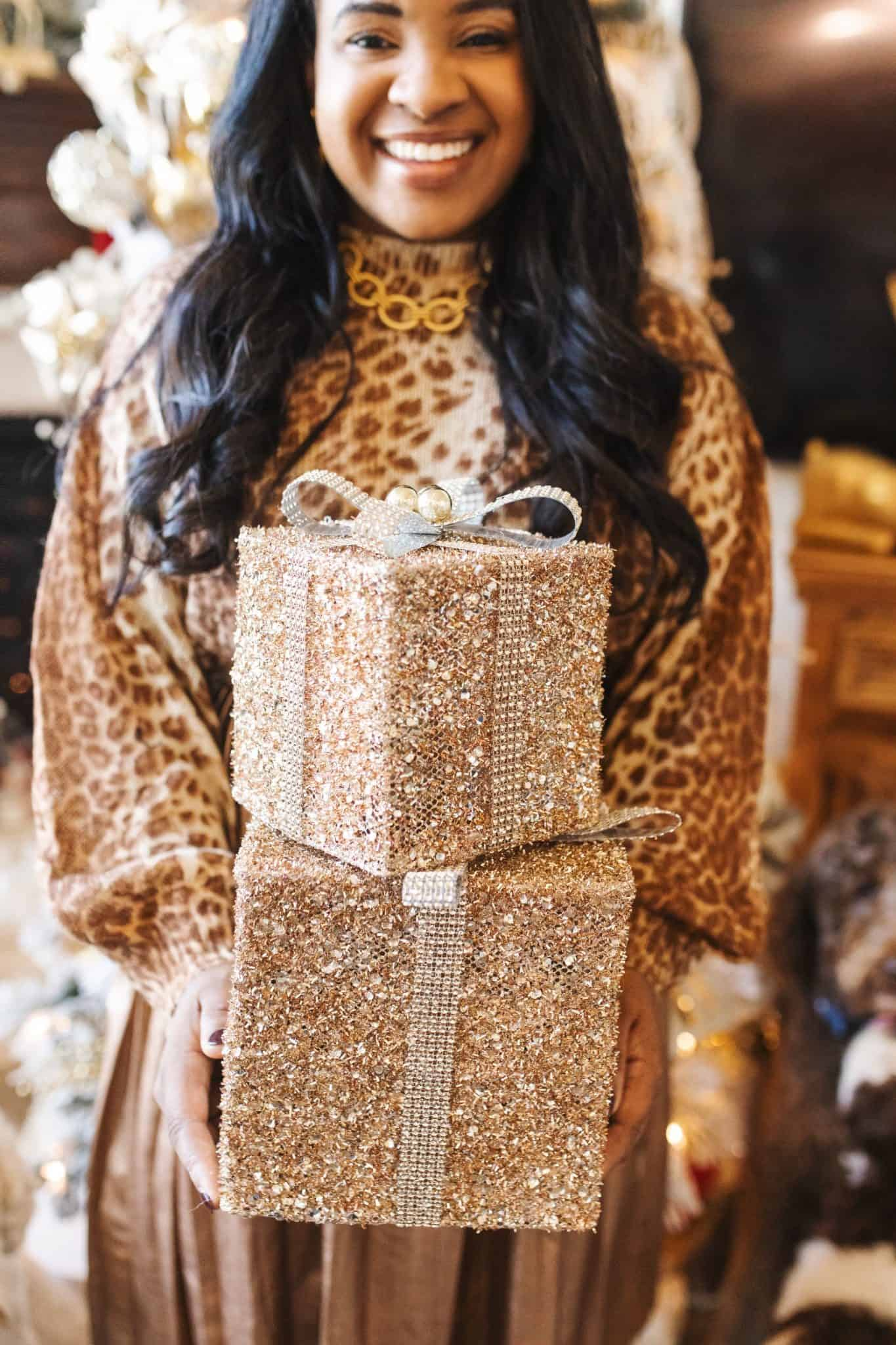 Glam Christmas Tree ideas featured by top US life and style blog, Glamorous Versatility.