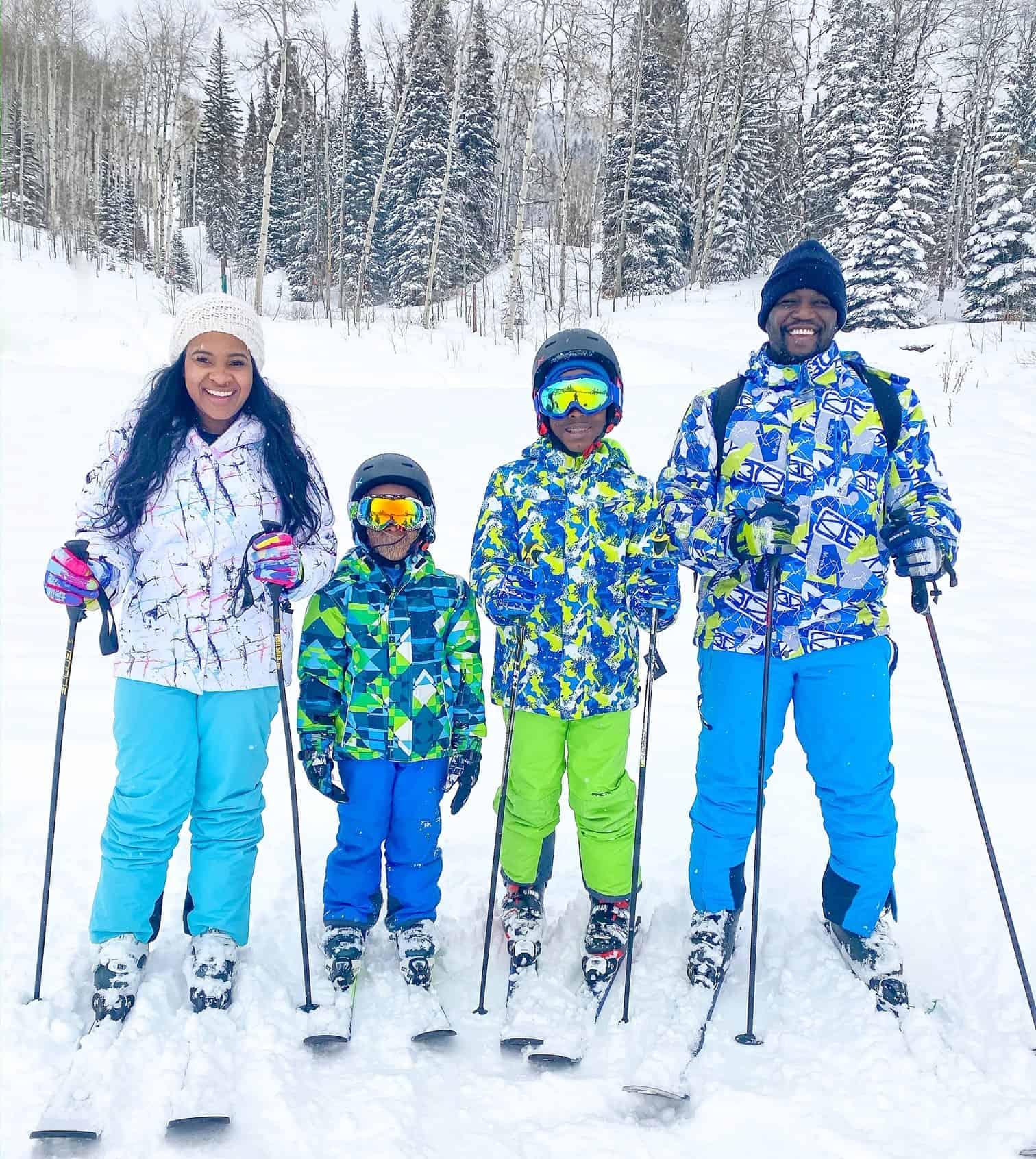 How to Plan a Ski Trip for Your Family by popular lifestyle blog, Glamorous Versatility: image of a family at Beaver Creek Ski Resort in Avon, Colorado.