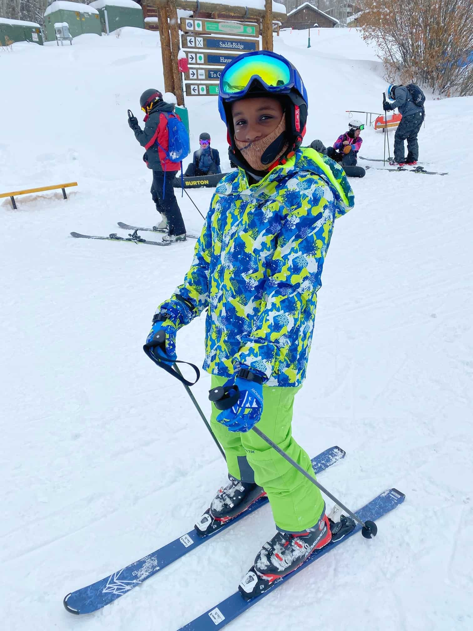 How to Plan a Ski Trip for Your Family by popular lifestyle blog, Glamorous Versatility: image of a boy skiing at Beaver Creek Ski Resort in Avon, Colorado.