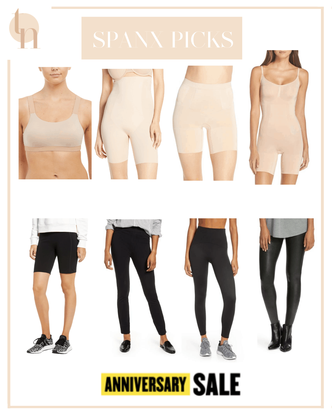Nordstrom Anniversary Sale by popular Dallas life and style blog, Glamorous Versatility: collage image of various Spanx clothing items.