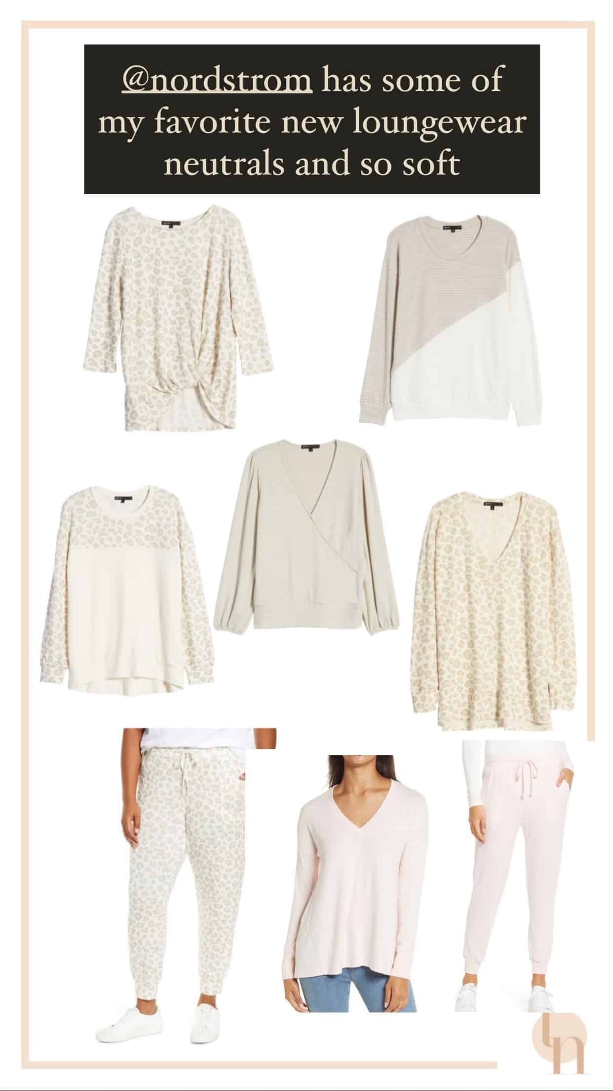 Best Nordstrom Fall Loungewear featured by top Dallas fashion blogger, Glamorous Versatility | Comfortable Loungewear by popular Dallas fashion blog, Glamorous Versatility: collage image of neutral loungewear long sleeve tops and joggers.