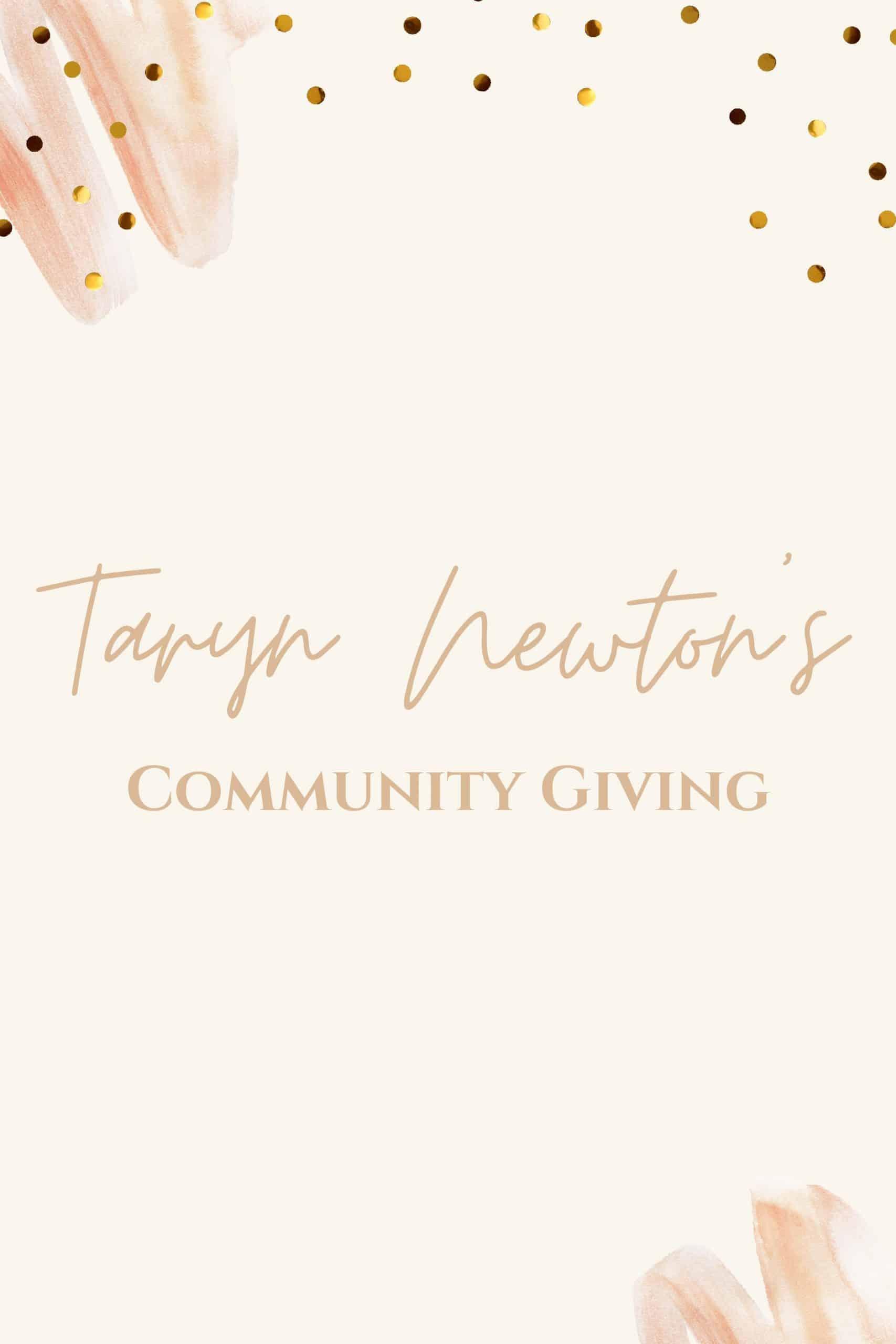 Community Giving by popular Dallas lifestyle blog, Glamorous Versatility: {Pinterest image of Taryn Newton's Community Giving.