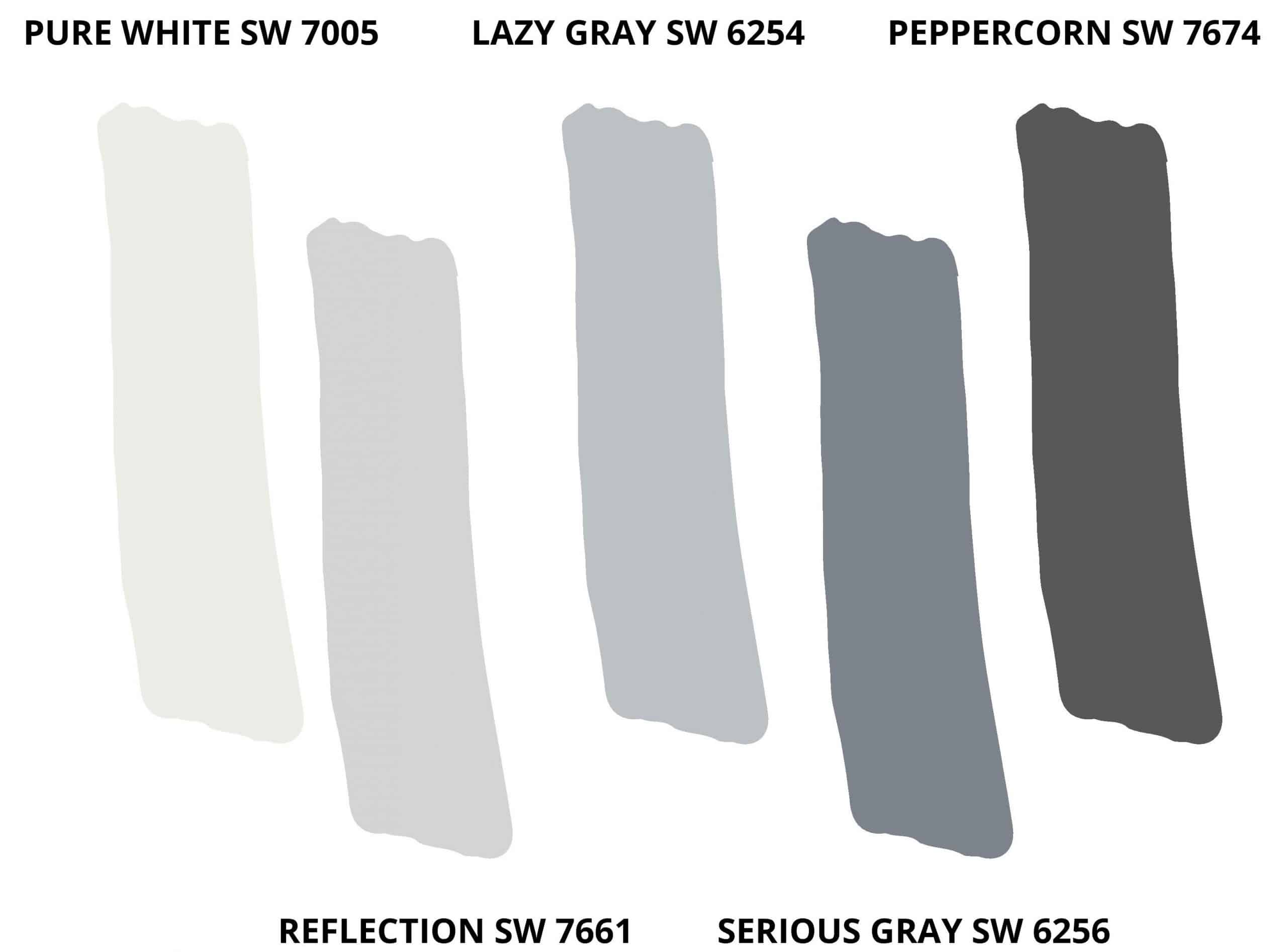 Teenage Boy Bedroom by popular Dallas life and style blog, Glamorous Versatility: image of grey paint swatches.
